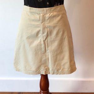 Stretchy cotton, nylon, spandex skirt.